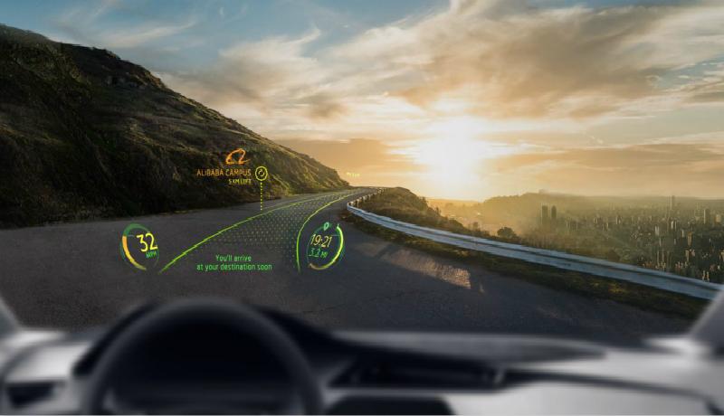 Systém rozšírenej reality Navion asistuje vodičovi pomocou prvkov zobrazených na čelnom skle.