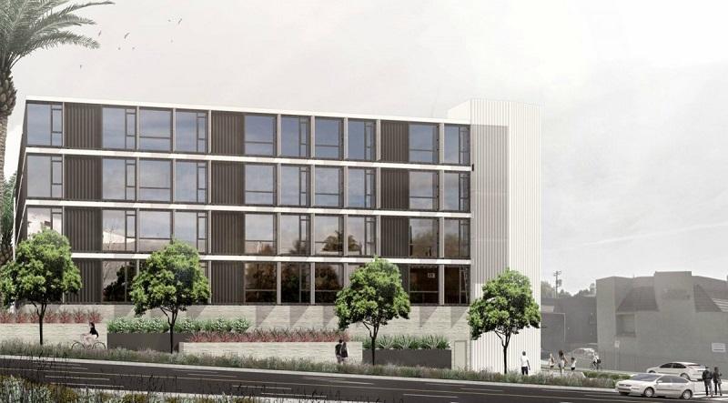 Stvárnenie budovy Hope on Alvadaro v Los Angeles, Kalifornia