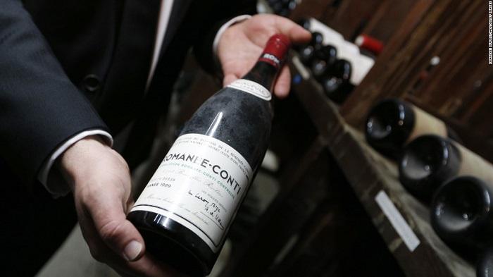 Fľaša vína Romanée-Conti, ročník 1989.