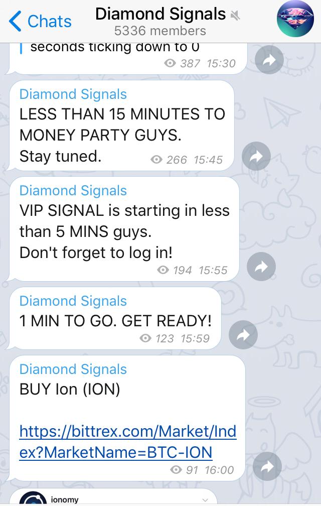 Takto vyzerá skupinový rozhovor v aplikácii Telegram, prostredníctvom ktorého účastníci koordinujú nákup špecifickej kryptomeny v špecifickom čase. Jedná sa o typ podvodu, v rámci ktorého dochádza k masovému nakupovaniu a následnému predávaniu jednotiek kryptomeny.