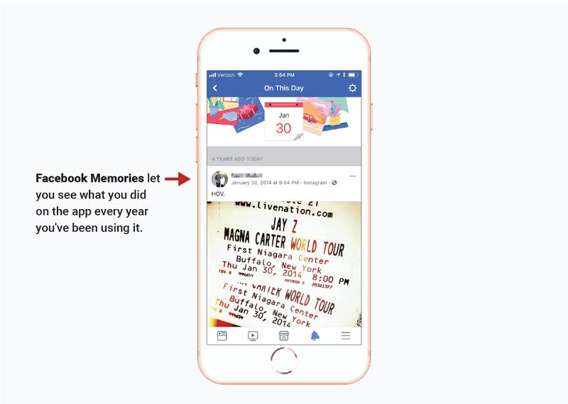 """""""Spomienky"""" na Facebooku Vám dovolia prezerať si svoju činnosť v aplikácii v rámci predošlých rokov."""