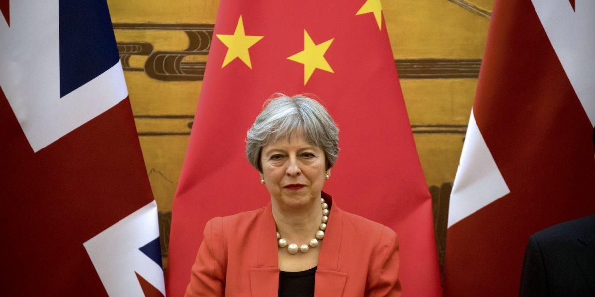 Britská premiérka Theresa Mayová na stretnutí v čínskom Pekingu v januári roku 2018.