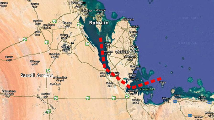 Saudska_Arabia_ma_blaznivy_zamer_ako_zmenit_Katar_na_ostrov_2018_mapa
