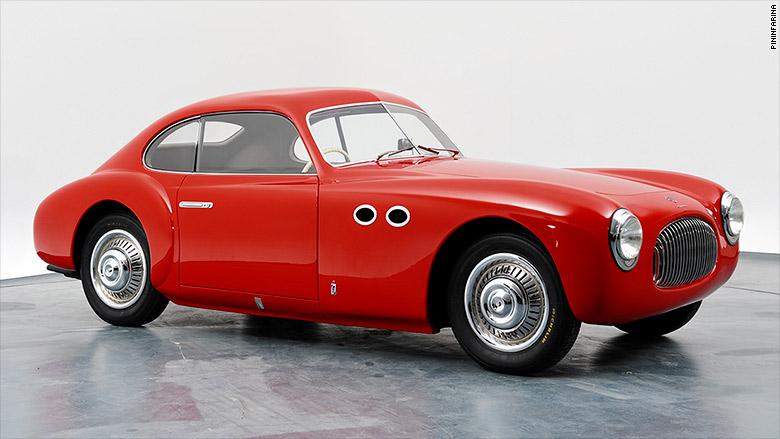 Cisitalia 202 z roku 1947, ktorá bola postavená vo firme Pininfarina, sa stala prvým vozidlom vystaveným natrvalo, v múzeu moderného umenia v New Yorku.