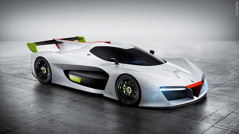 Koncept Pininfarina H2 Speed - vysokovýkonné vozidlo poháňané vodíkom, bolo predstavené na autosalóne v Ženeve v roku 2016.