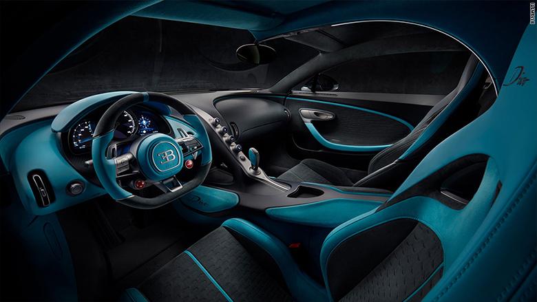 Pohľad na interiér Bugatti Divo.
