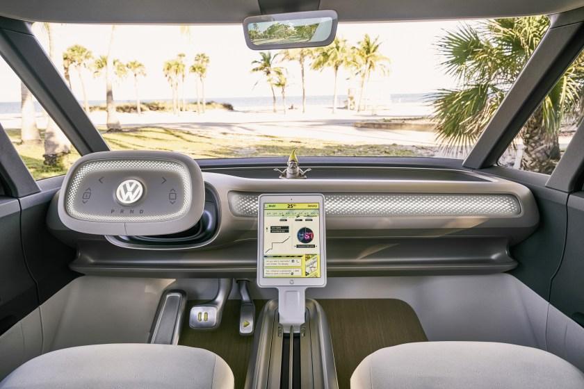 Interiér konceptu mikrobusu Volkswagen ID Buzz.