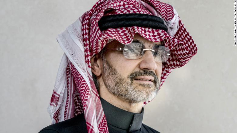 Saudský princ Alwaleed Bin Talal, miliardár a zakladateľ spoločnosti Kingdom Holding.