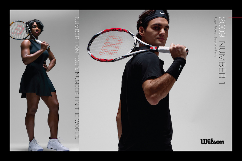 Serena Serena Williams a Roger Federer.
