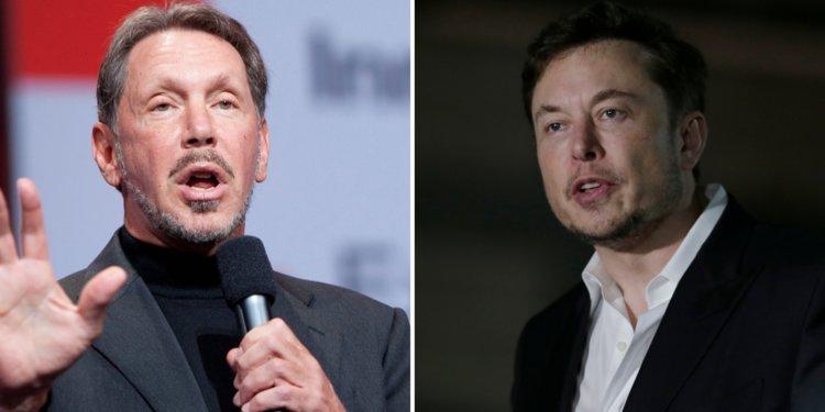 Larry Ellison a Elon Musk.
