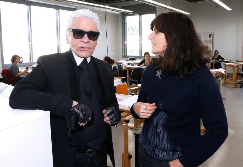 Karl Lagerfeld a Virginie Viardová.