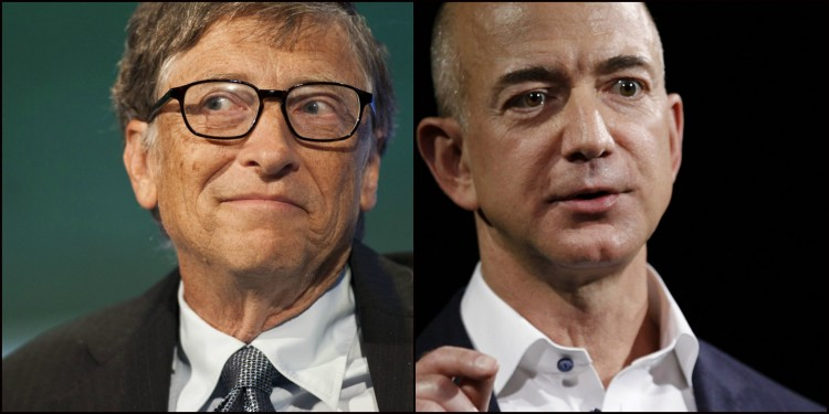 Bill Gates a Jeff Bezos.