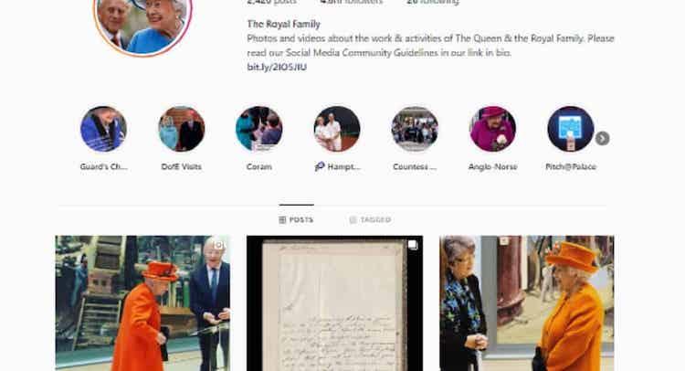 Kralovna_Alzbeta_sa_prvykrat_prihlasila_na_Instagram