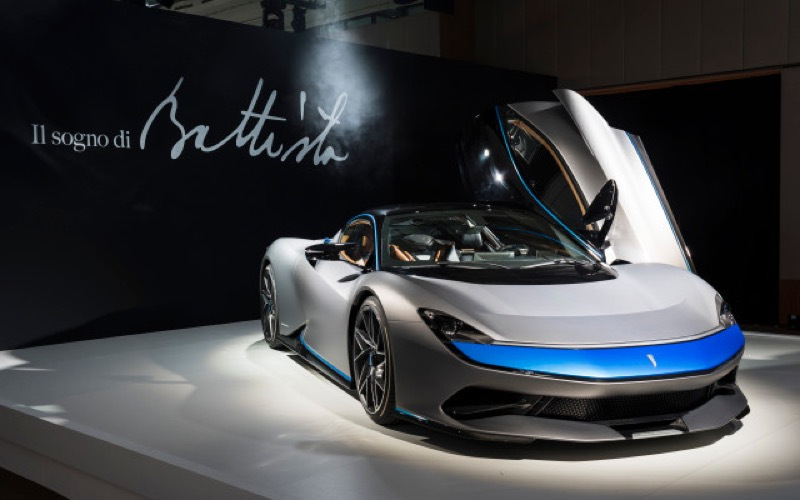 Automobili Pininfarina's ground-breaking Battista luxury electric hypercar revealed in three different beautiful specifications at the World Premiere of the all-electric hypercar in Geneva 4th March 2019 World Copyright: Patrick Gosling / Stan Papior Beadyeye Ref: Automobili_Pininfarina_Battista_GIMS_2019-01155.jpg