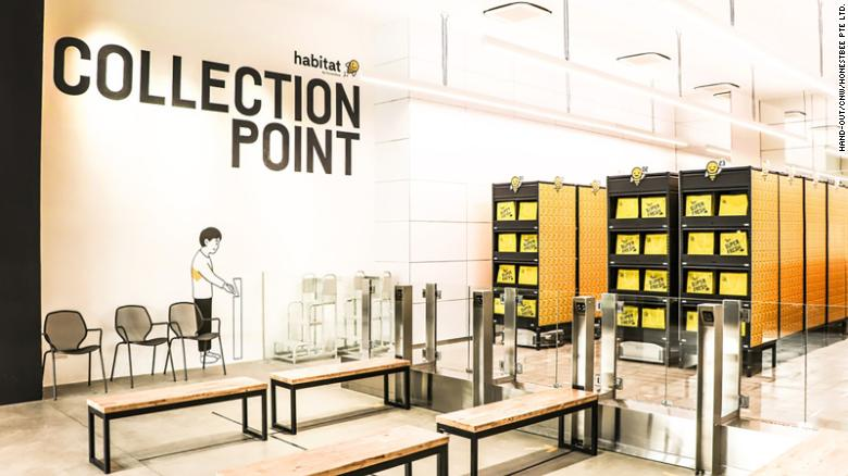 habitat by honestbee features the world's first robotic collection point (RoboCollect)