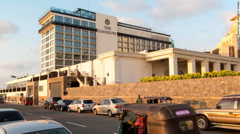 Hotel Kingsbury v Kolombe na Srí Lanke, na foto z roku 2015, ktorý bol jedným z hotelov zameraných na útok.