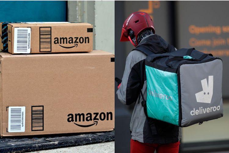 Amazon a Deliveroo.