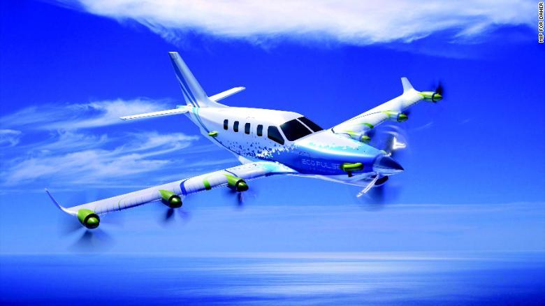 Vizualizácia lietadla vybaveného technológiou EcoPulse.