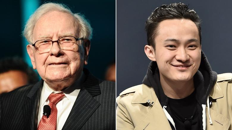 Warren Buffett a čínsky podnikateľ Justin Sun.