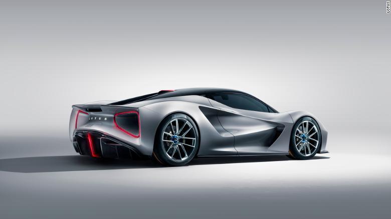 Otvory v zadnej časti vozidla Evija zmierňujú tlak vzduchu, aby sa zlepšila aerodynamika vozidla.