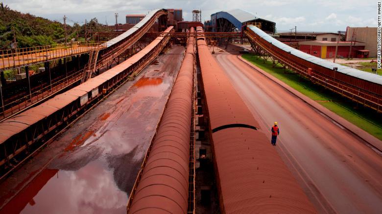Továreň významného spracovateľa železnej ruda v severnej Brazílii.