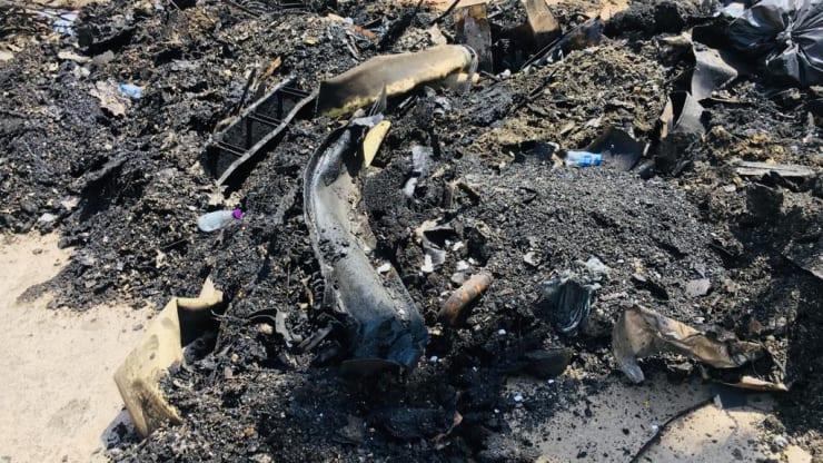 Trosky v saudskoarabskom spracovateľskom závode Khurais po útokoch dronov, z 20. septembra 2019.