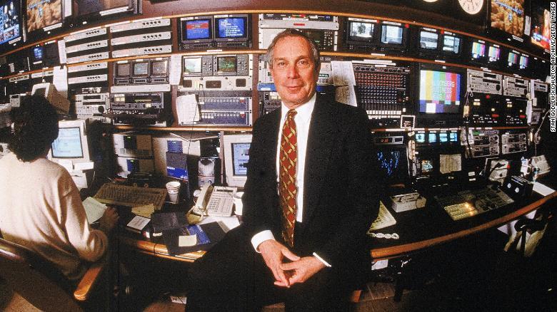 Michael Bloomberg, zakladateľ a výkonný riaditeľ spoločnosti Bloomberg LP na fotografií z 15. marca 1997 v kanceláriách svojej spoločnosti v New Yorku.