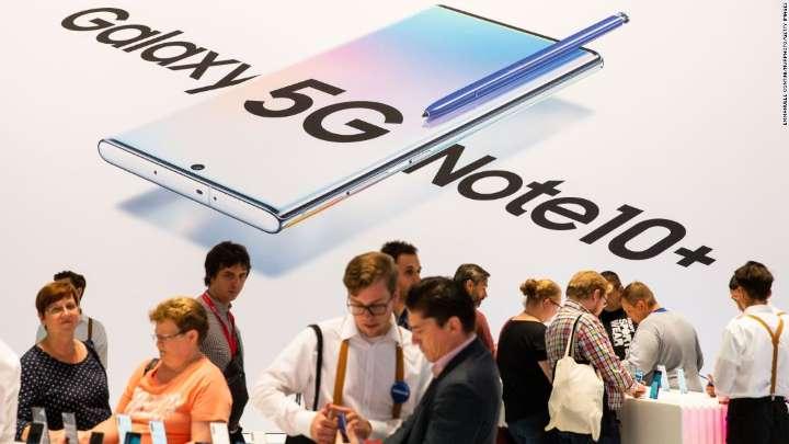 Samsung Galaxy Note 10 5G.