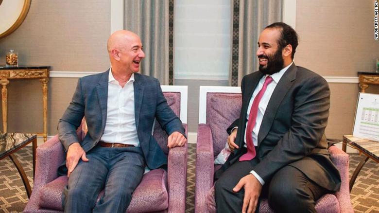 Jeff Bezos a bin Salman.
