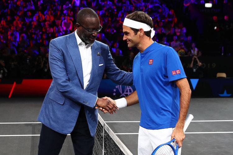banky Credit Suisse - Tidjane Thiam a Roger Federer.