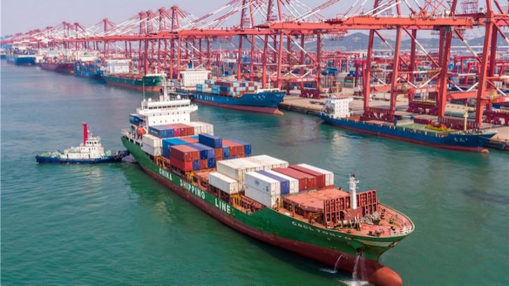 Výsledky vývozu a export Číny.