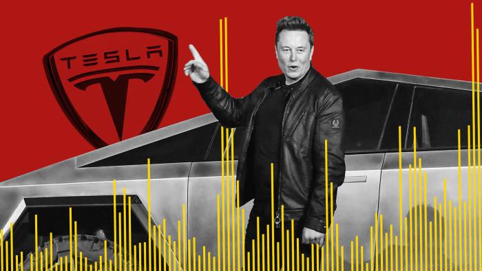Elon Musk a automobilka Tesla.