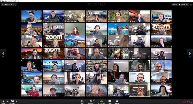 Komunikácia cez službu spoločnosti Zoom.