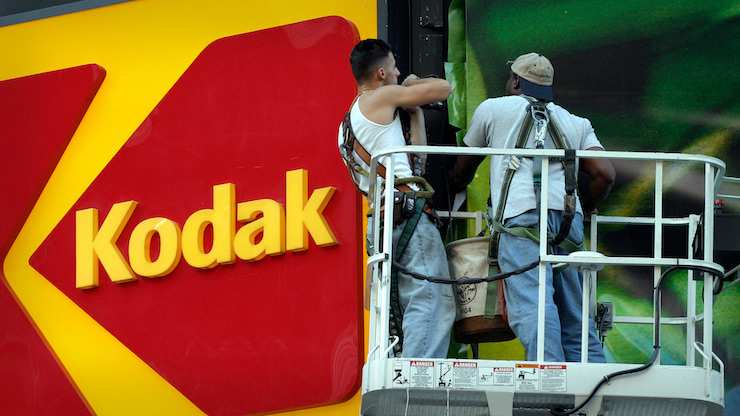 Akcie firmy Kodak aktuálne čelia prepadu.