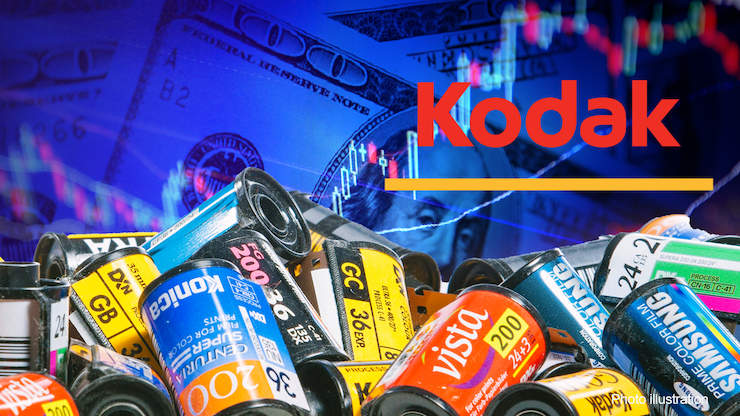 Akcie spoločnosti Kodak dosiahli rozsiahly rast.