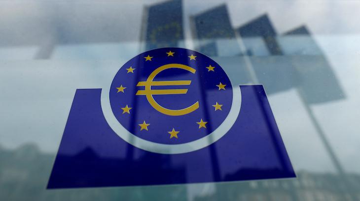 FILE PHOTO: The European Central Bank logo. Frankfurt, Germany, January 23, 2020. REUTERS/Ralph Orlowski/File Photo