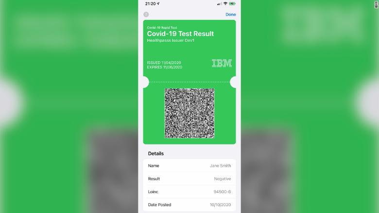 Aplikácia IBM Digital Health Pass vytvára poverenie tzv. online vakcíny, ktorú je možné uložiť do mobilnej peňaženky.