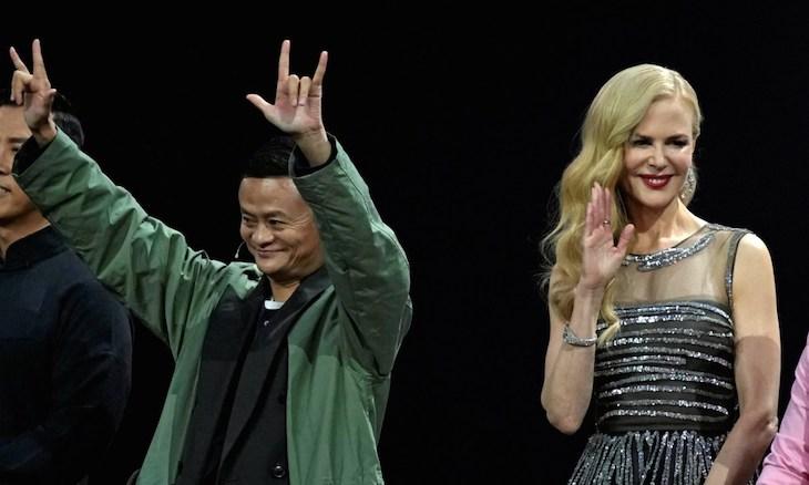 Miliardár Jack Ma a Nicole Kidman.