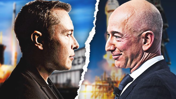 Elon Musk vs. Jeff Bezos.