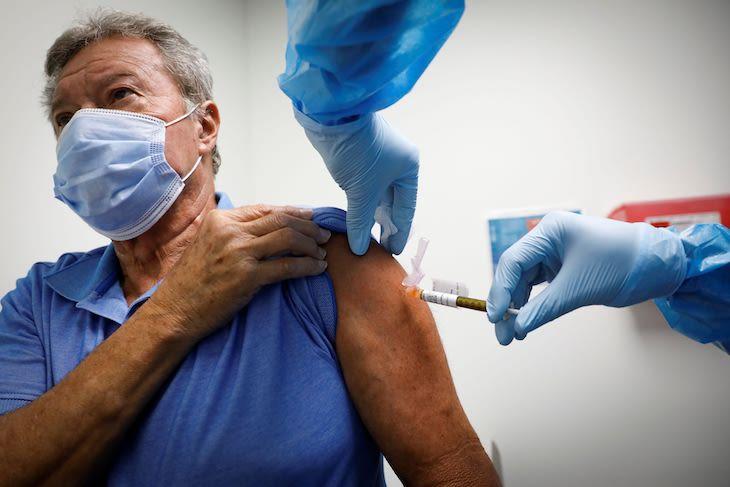 Rebríček očkovania vakcín proti ochoreniu COVID-19.