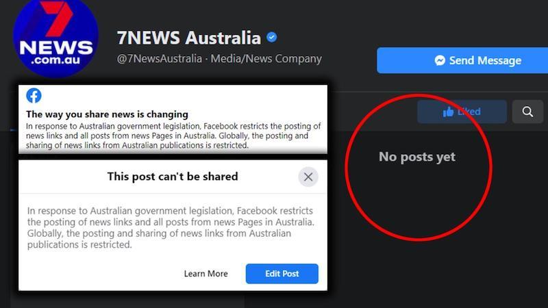 Kroky Facebooku v Austrálií.