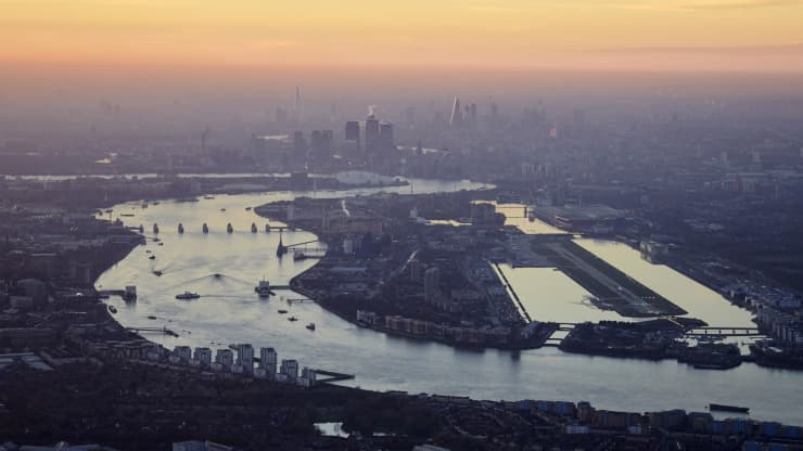 Londýnska rieka Temža.