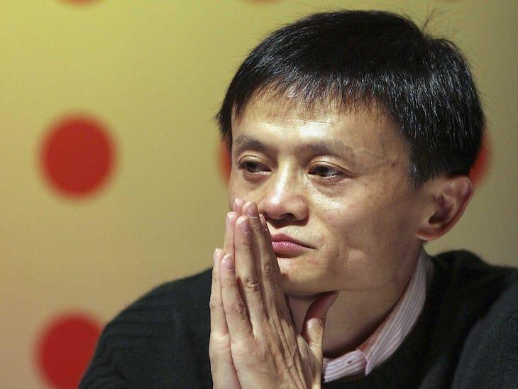Jack Ma zo spoločnosti Alibaba.