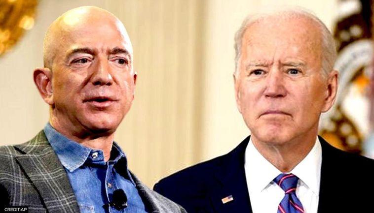 Jeff Bezos a Joe Biden.