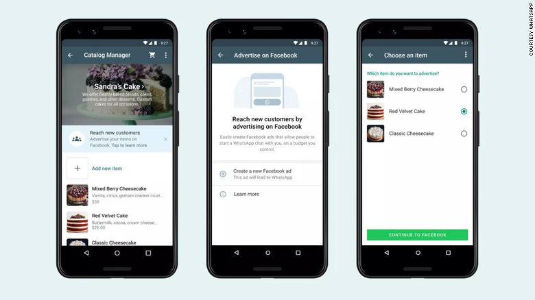 """Nová funkcia umožní majiteľom firiem začať vytvárať reklamy typu """"klikni na WhatsApp"""", ktoré sa budú zobrazovať na Facebooku a Instagrame priamo z aplikácie WhatsApp Business."""