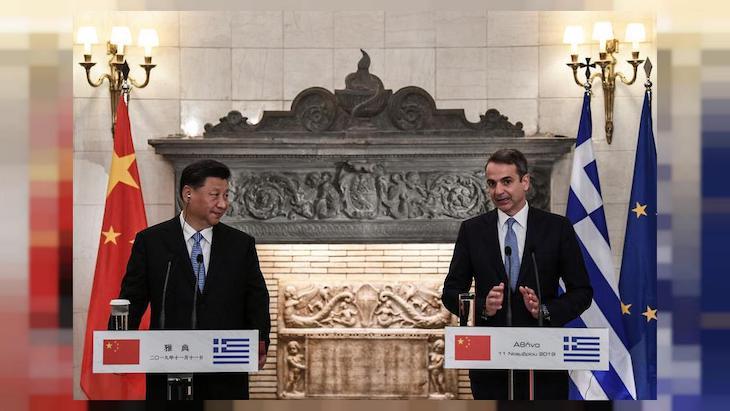 Spojenec Číny - Grécko.
