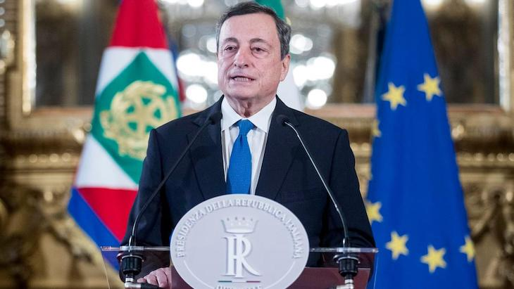 Aktuálny premiér Talianska - Mario Draghi.