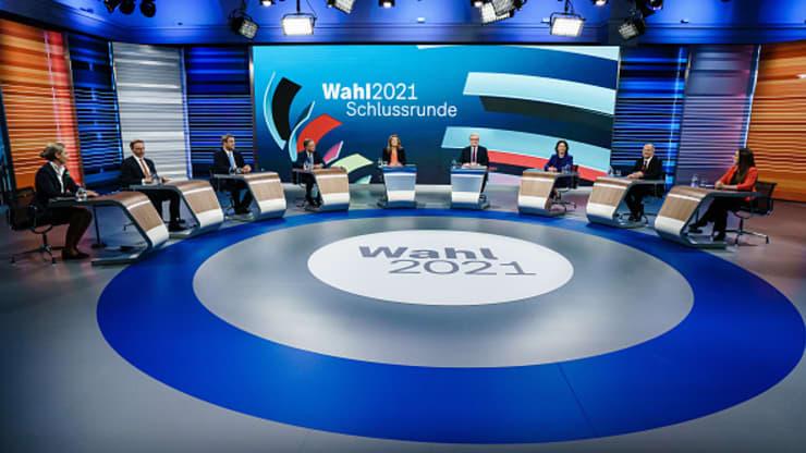 Hlavní kandidáti vo voľbách Nemecka.