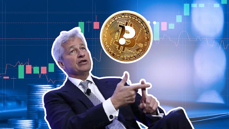 Jamie Dimon a jeho názory na krytomenu Bitcoin.